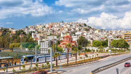 Panoramic view of Piraeus near Athens, Greece
