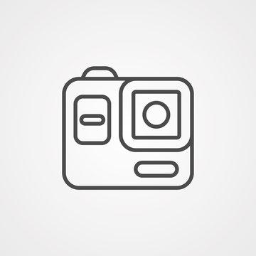 Action camera vector icon sign symbol