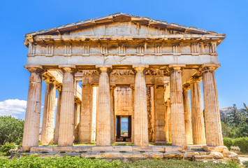 Fototapete - Temple of Hephaestus in the Ancient Agora, Athens, Greece