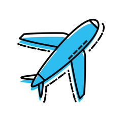 airplane travel isolated icon