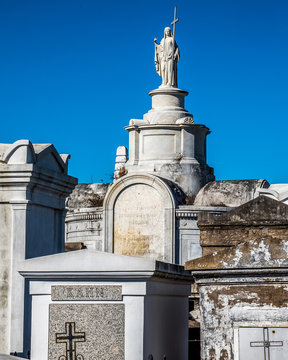 Statue at the St. Louis number 2 Cemetery in New Orleans