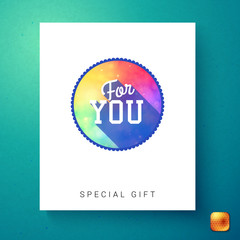 For you special gift text over white card