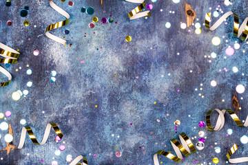 Carnival background with confetti