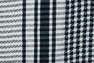Black arabic scarf Shemagh. Close-up. The real shemagh.
