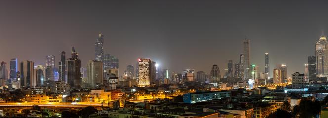 Paranoma View of Bangkok Expressway  in the Night