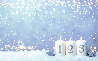 3. Advent Hintergrund Kerze Licht