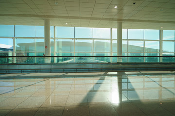 Departure area of the airport. Sad time when you leave the Spain
