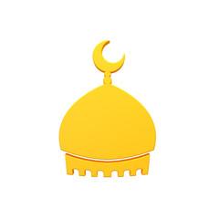 Mosque tomb 3d volumetric icon image isolated illustration