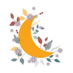 Mond in Blüten