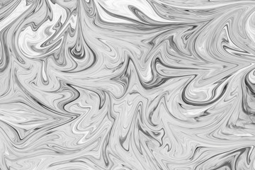 Abstract Gray Black and White Marble Ink Pattern Background. Liquify Abstract Pattern With Black, White, Grey Graphics Color Art Form.