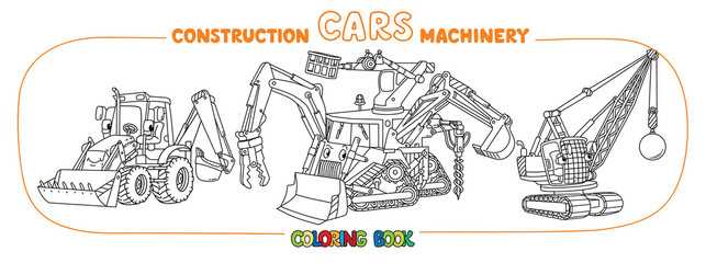 Funny small bulldozer multi tool coloring book set