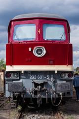 Portrait of a Diesel Locomotive, Model Series 232, Taigatrommel, old Diesel Locomotive, Germany