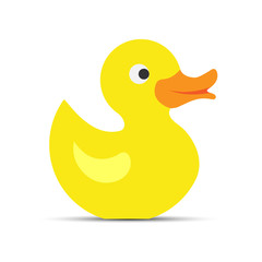 Color yellow duckling icon, children's toy, animals