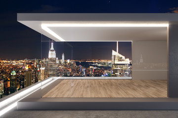 Expensive rooftop with NY view
