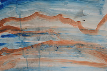 Painting Background brown and blue horizontal