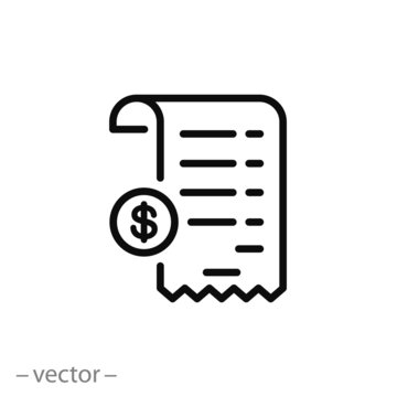 receipt icon vector