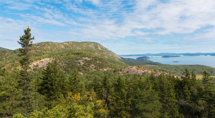 Landscape View of Acadia National Park in Maine