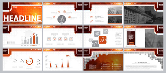 Multicolored, red, elements for infographics on a white background.The best set of presentation templates.Presentation,leaflet and flyer,corporate report, marketing,advertising,supernova,annual report