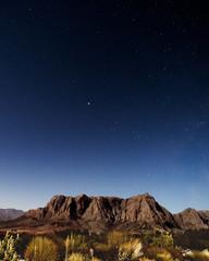 Night paronamic view in Stellenbosch, South Africa