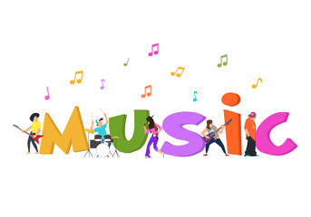 Play music concept of group.