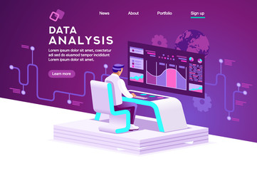 Interface to tracking website interaction. Software data interacting with infographic, database or desktop graphs. Retail management, order chart of virtual shopping. Statistics vector illustration