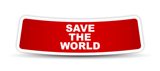 red vector banner save the world