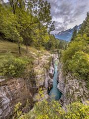 Wall Mural - Soca river Gorge Slovenia