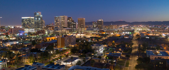 Aerial View Phoenix State Capital City of Arizona Downtown City Skyline