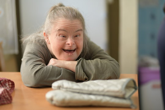adult woman with down syndrome