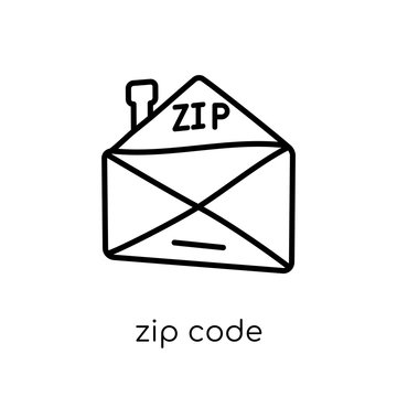 Zip code icon from Delivery and logistic collection.