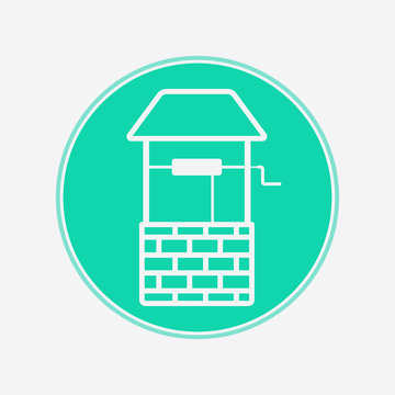 Water well vector icon sign symbol