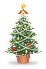クリスマスツリー 白背景