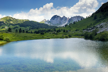 Image of Gornje Bare lake on Zelengora mountain