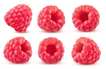 Raspberry isolated on white background, clipping path, full depth of field