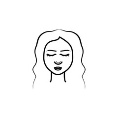 Woman, nose, Rhinoplasty icon. Element of anti aging outline icon for mobile concept and web apps. Thin line Woman, nose, Rhinoplasty icon can be used for web and mobile
