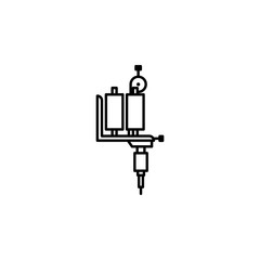 Tattoo machine icon. Element of anti aging outline icon for mobile concept and web apps. Thin line Tattoo machine icon can be used for web and mobile
