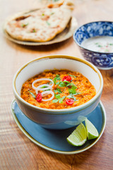 Red Lentils Indian Curry Dal