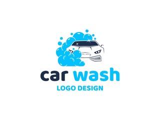 Car wash logo vector inspiration