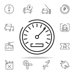 speedometer icon. transportation icons universal set for web and mobile