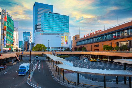 Sendai Station in Sendai, Japan