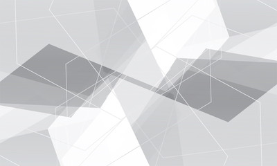 white geometric on gray backdrop wallpaper. grey connection technology pattern background.