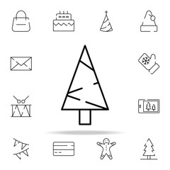 celebration tree icon. christmas icons universal set for web and mobile