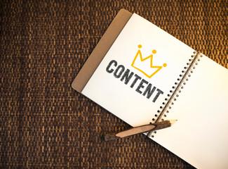 Content written on a notebook