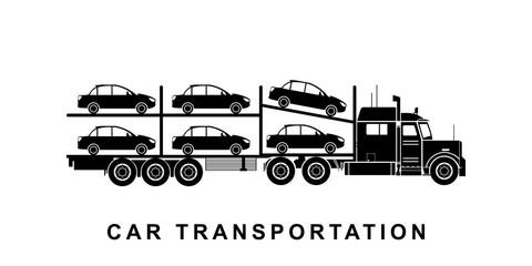 Detailed car transporting truck illustration
