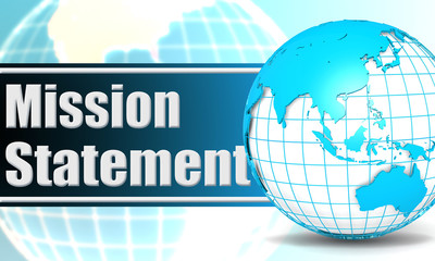 Mission statement with sphere globe