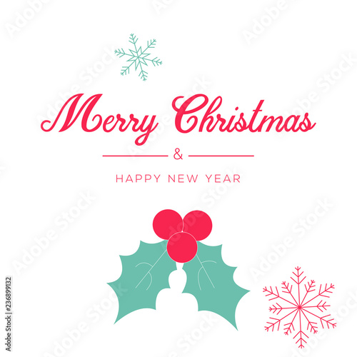 merry christmas and happy new year greeting card and poster design gift card