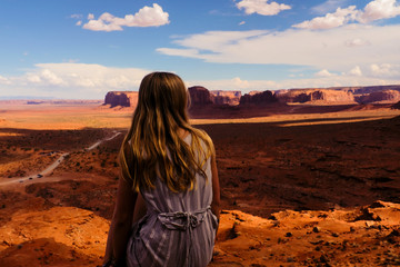 Lady looking over Monument Valley