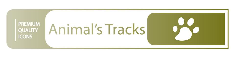 background animal tracks icons