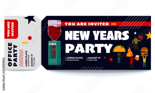 music dance new year vector tickets templates ticket for entrance to the party