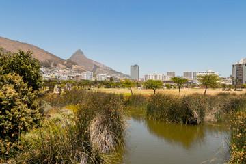 Green Point Park, Bergpanorama, Kapstadt, Südafrika